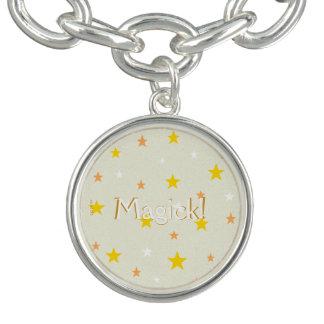 Golden Starry Sky Personalize Charm Bracelet