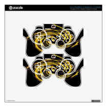 golden stars abstract.jpg skin for PS3 controller