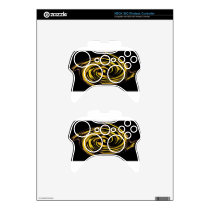 golden stars abstract.jpg xbox 360 controller decal