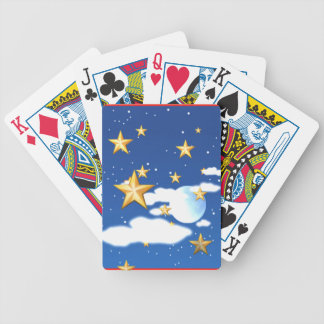 Golden Stars - Bicycle Playing Cards
