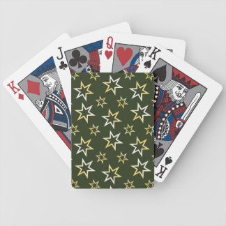 Golden Stars Bicycle Playing Cards