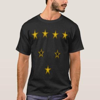 Golden Stars Black Tshirt