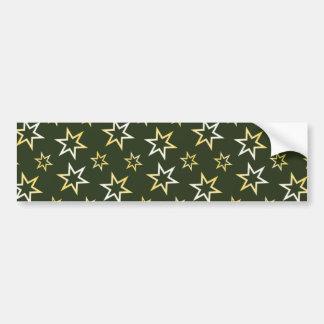 Golden Stars Bumper Sticker