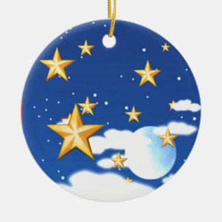 Golden Stars - Ceramic Ornament