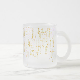 Golden Stars - Custom Your Color- Frosted Glass Coffee Mug