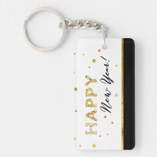 Golden Stars - Happy New Year Keychains