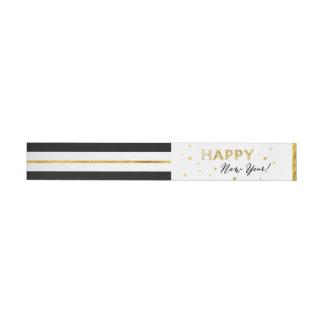 Golden Stars - Happy New Year Wraparound Labels