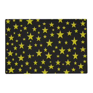 Golden Stars Laminated Placemat