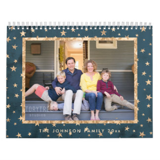 Golden Stars Midnight Photo Calendar