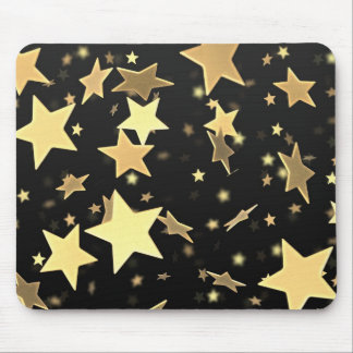 Golden Stars Mouse Pad