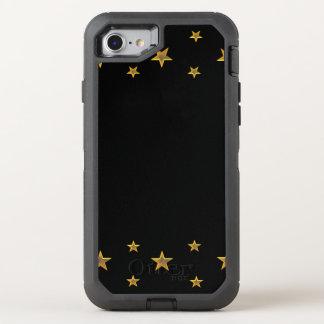 Golden Stars on Black OtterBox Defender iPhone 8/7 Case