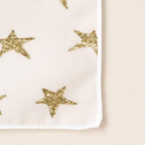 Golden stars pattern on white modern sparkle scarf