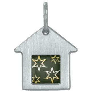 Golden Stars Pet Tags