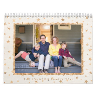 Golden Stars Photo Calendar Cream