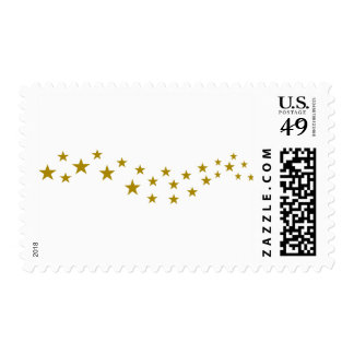 Golden Stars Postage Stamps