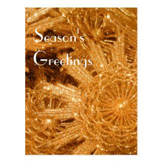 Golden stars postcard