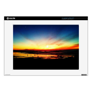 "Golden State Beach Sunset over the Pacific 15"" Laptop Decals"