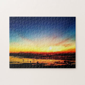Golden State Beach Sunset over the Pacific Jigsaw Puzzle