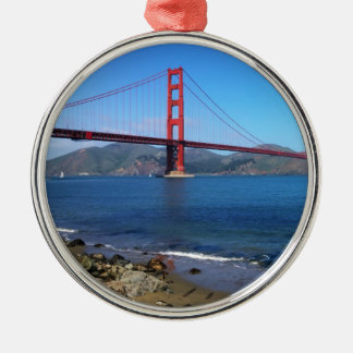 Golden State Bridge - San Francisco, California Metal Ornament