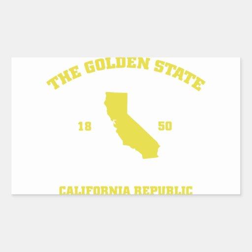 Golden State de California Pegatina Rectangular