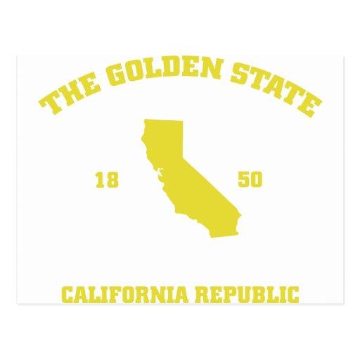 Golden State de California Tarjetas Postales