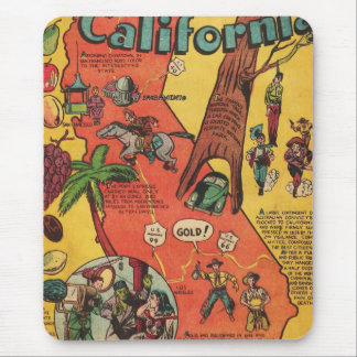 Golden State of California Facts Mouse Pad