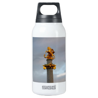 Golden Statue Of Saint George, Republic Of Georgia Insulated Water Bottle