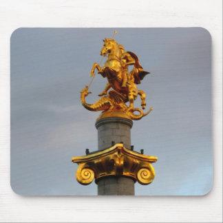 Golden Statue Of Saint George, Republic Of Georgia Mouse Pad