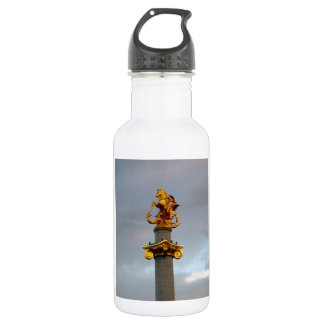 Golden Statue Of Saint George, Republic Of Georgia Stainless Steel Water Bottle