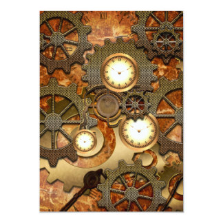 Golden steampunk card