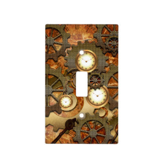 Gears Light Switch Covers | Zazzle:Golden steampunk light switch cover,Lighting