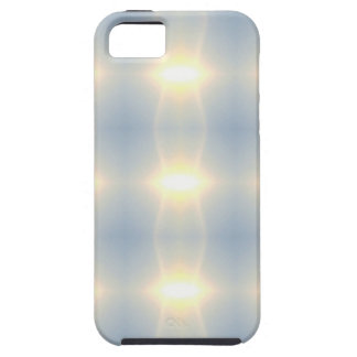Golden Strands Of Light Abstract On Blue Backgroun iPhone SE/5/5s Case