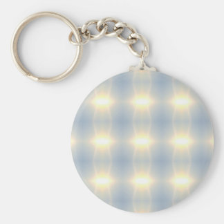 Golden Strands Of Light Abstract On Blue Backgroun Keychain