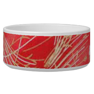 Golden Straw Chinese Red Friendship Bowl