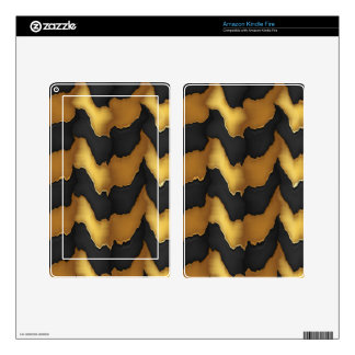 Golden Streak Goodluck Energy Wave Pattern art Kindle Fire Decals
