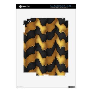 Golden Streak Goodluck Energy Wave Pattern art Skins For iPad 3