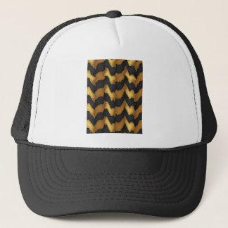 Golden Streak Goodluck Energy Wave Pattern art Trucker Hat