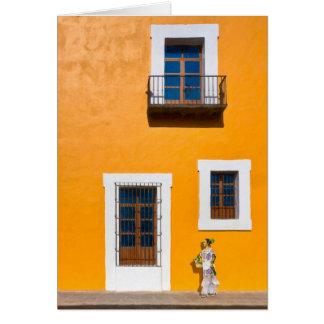 Golden Streets of Puebla Mexico Card