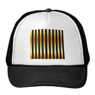 Golden stripe background hats