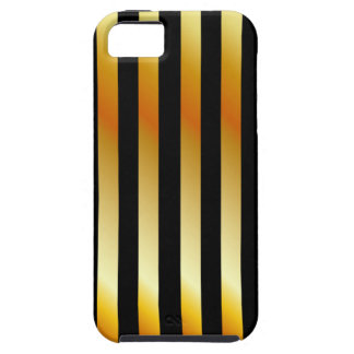 Golden stripe background iPhone 5 covers