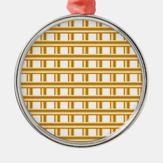 Golden stripe background metal ornament