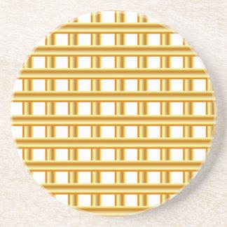 Golden stripe background sandstone coaster