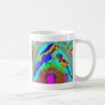 Golden Stripe - Mommy n Baby Parrot Classic White Coffee Mug