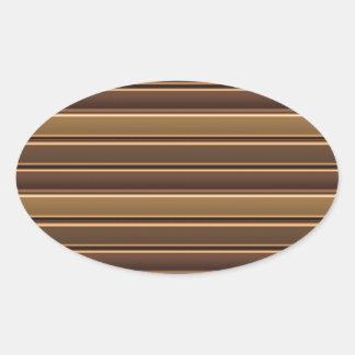 Golden Stripe TEMPLATE diy easy add TEXT PHOTO Jpg Oval Sticker