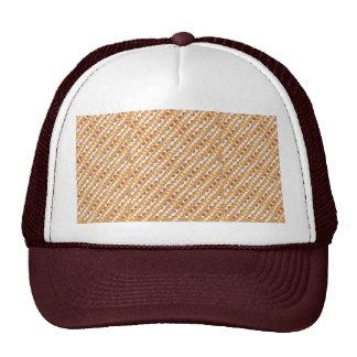 Golden STRIPES n Golden Brown DOTS. Artistic GIFTS Trucker Hat