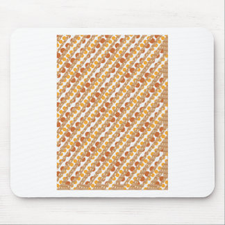 Golden STRIPES n Golden Brown DOTS. Artistic GIFTS Mouse Pad