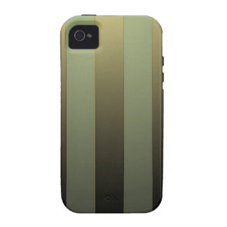 GOLDEN STRIPES ON GREEN SHADE VIBE iPhone 4 CASE