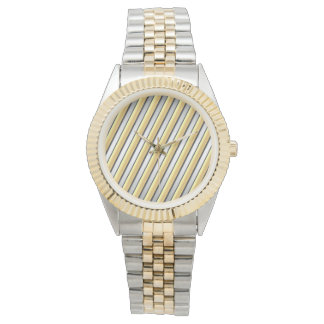 Golden Stripes Unisex Bracelet Watch