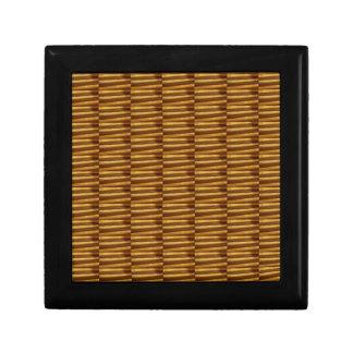 GOLDEN Strips Pattern : From VINTAGE Idol Image Trinket Boxes