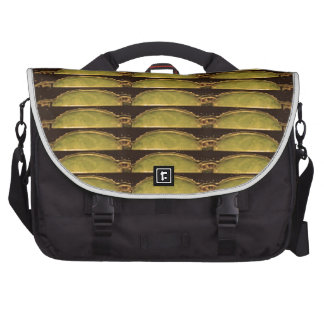 GOLDEN Strips Pattern From VINTAGE Idol Image Bag For Laptop